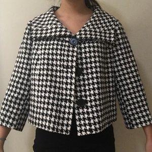 Houndstooth pattern jacket